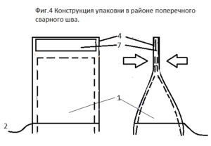 Конструкция упаковки в районе поперечного сварного шва